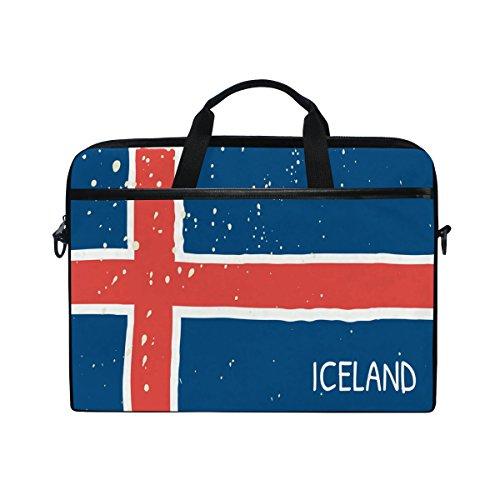 Umhängetasche mit Griff für Damen und Herren, Distressed Island Flagge, 35,6 cm