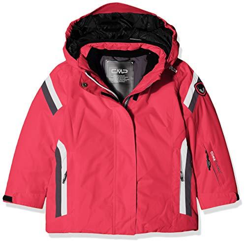 CMP Mädchen Jacke Wattierte 3000 Taslan Skijacke, Strawberry, 110, 38W0375