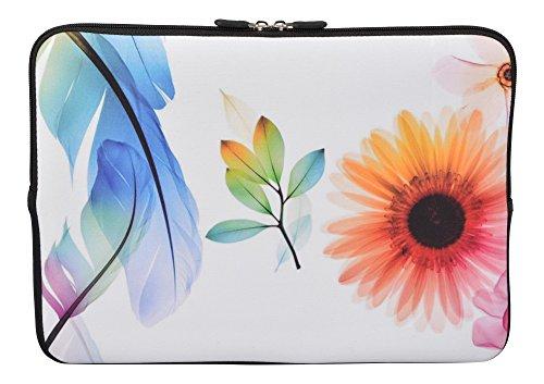 MySleeveDesign Laptoptasche Notebooktasche Sleeve für 10,2 Zoll / 11,6-12,1 Zoll / 13,3 Zoll / 14 Zoll / 15,6 Zoll / 17,3 Zoll - Neopren Schutzhülle mit VERSCH. Designs - Sunflower [11-12]