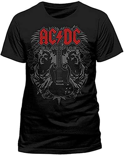 AC/DC zwart ijs-gitaar t-shirt