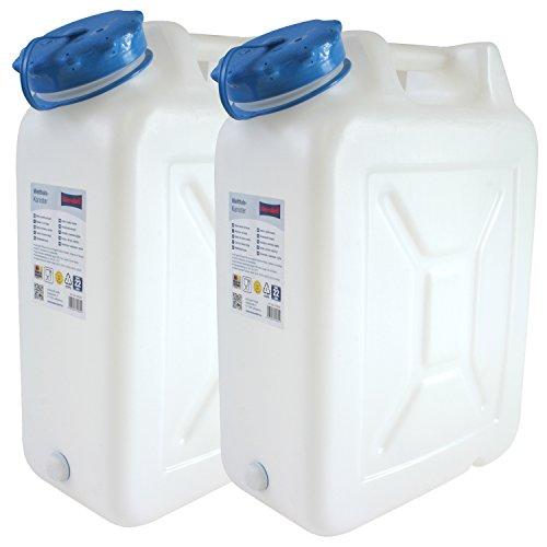 Hergestellt für BAUPROFI 2x Weithals-Kanister 22 Liter PRO 2er Set Lebensmittelkanister Wasserkanister Liter