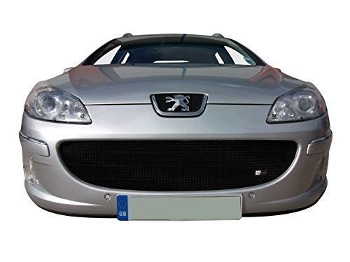 Zunsport Compatible con Peugeot 407 (Facelift) - Parrilla Delantera - Acabado Negro (De 2008 a 2010)