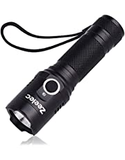 LED 懐中電灯 USB充電式 超高輝度 ハンディライト IPX6 防水 軍用 強力 防災 防犯