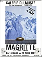 ポスター ルネ マグリット Galerie Du Muse 1987 額装品 アルミ製ハイグレードフレーム(シルバー)