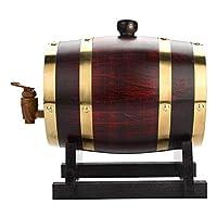 パーソナライズ - カスタマイズされたアメリカのオークエイジングバレル、ビール、ワイン、バーボン、テキーラ&その他 (Size : 3 liters)