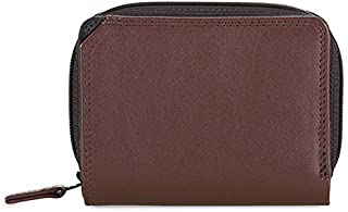 mywalit Women's Small Wallet W/Zip Around Purse Brown