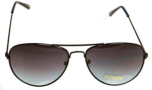 Oramics Klassische Pilotenbrille Unisex Sonnenbrille Fliegerbrille Pornobrille in vielen Farbkombinationen (64311)