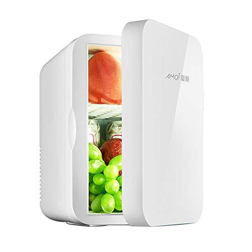 Household appliances 6L eintürige kleinen Kühlschrank Kühler Mini Kühl- und Heizbox,Haushaltsauto Dual-Use-Getränkekühler,Stiller Wein-GefrierschrankGeeignet für Zuhause Büro Schlafzimmer ZDDAB