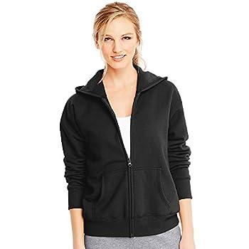 Hanes Women s EcoSmart Full-Zip Hoodie Sweatshirt Ebony Large