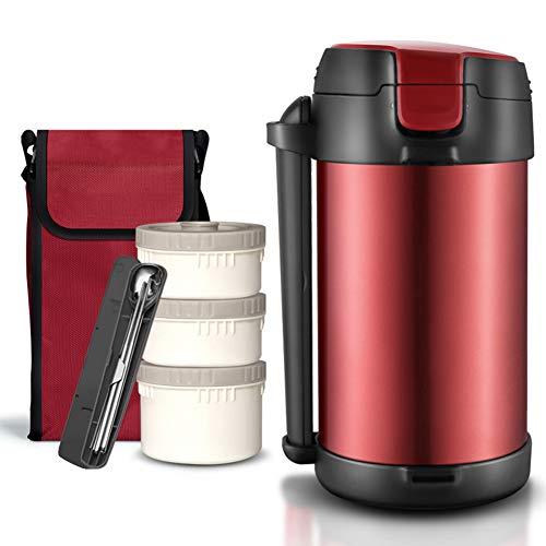 Pixier Thermos alimentare, 2.2L scatola per il pranzo isolata in acciaio inossidabile, per contenitore per alimenti caldi, isolamento sotto vuoto a doppia parete/a tenuta stagna e senza BPA