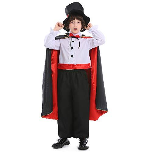 Disfraz de Mago mgico del da de Halloween para nios, Disfraz de Escenario para nios de Circo Cosplay