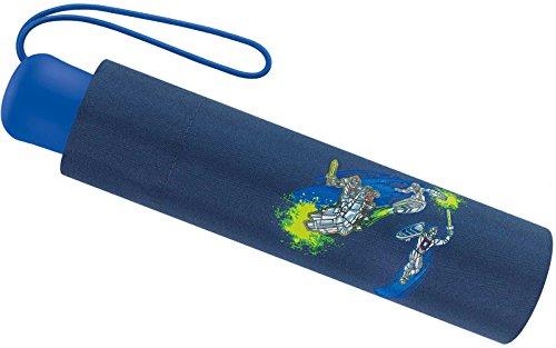 Scout Kinder Regenschirm Taschenschirm Schultaschenschirm mit Reflektorstreifen extra leicht Super Knights