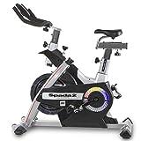 BH Fitness SPADA II H9350 Indoorbike, Indoorcycling, 3-faches Bremsystem, Gemischte SPD-Trekking-Pedale, Trinkflaschenhalter, PolyV-Riemen