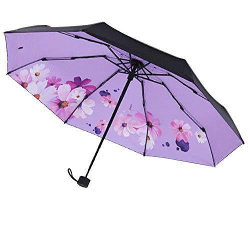 Sombrilla mini sun y lluvia para viajes - Ligera compacta con 95% de protección UV Protectores solares para bodas y personales