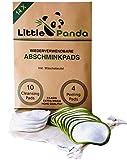 Little Panda Abschminkpads waschbar aus Bambus & Bio-Baumwolle   14 wiederverwendbare Wattepads Bambus-Pads   nachhaltige Baumwollpads Make Up Pads inkl. Wäschebeutel