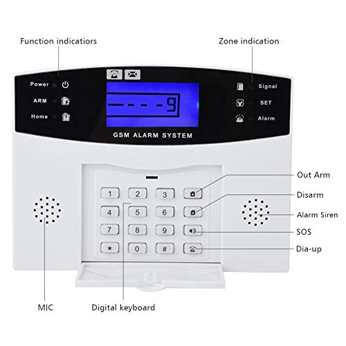 Inbraakalarmsysteem - SMS Wireless Home Security DIY Alarmsysteem, Wireless DIY GSM Auto Dialer voor Home Security System (EU-stekker)