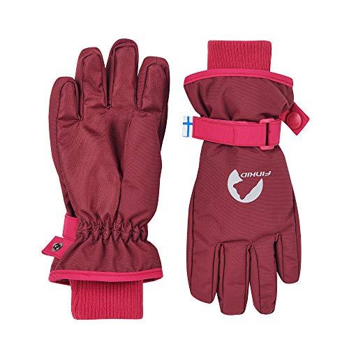 Finkid Pikkurilli Rot, Kinder Fingerhandschuh, Größe M - Farbe Cabernet - Persian Red