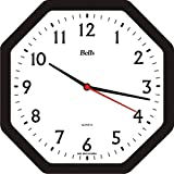 Relógio de Parede Oitavado, Bell's, Preto