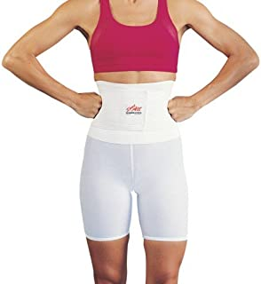 """Saunders S'port All Back Support with White Compression Shorts: Men's, Large (Waist: 36"""" - 38"""")"""