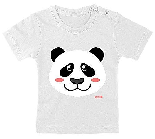 """Hariz - Camiseta para bebé, diseño de oso panda con texto en alemán """"Zo"""", incluye tarjeta de regalo para diente de leche, color blanco"""