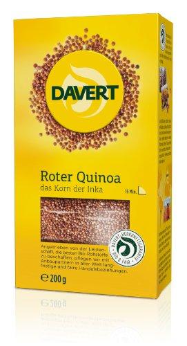 Davert Roter Quinoa, 4er Pack (4 x 200 g) - Bio
