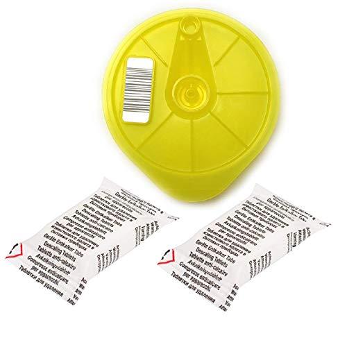 Aqualogis T-Disc und 2 Entkalkungstabletten gelb, Kompatibel mit Bosch 621101 Service T-Disc für Tassimo T20, T40, T65, T85