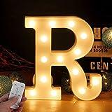 LED Buchstabe Lichter Alphabet LED Brief Licht Alphabet Zeichen mit drahtloser Timer Fernbedienung...