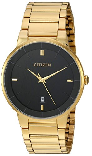 Citizen Men's BI5012-53E Quartz Gold Tone Stainless Steel Watch Case...