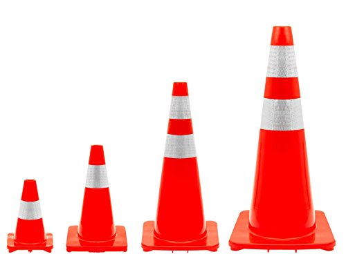 Verkehrsleitkegel in 4 Größen auswählbar von 30-90cm (45cm)