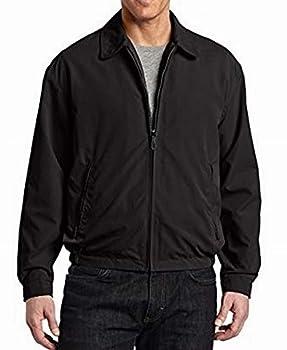 LONDON FOG Men s Auburn Zip-Front Golf Jacket  Regular & Big-Tall Sizes  Black X-Large