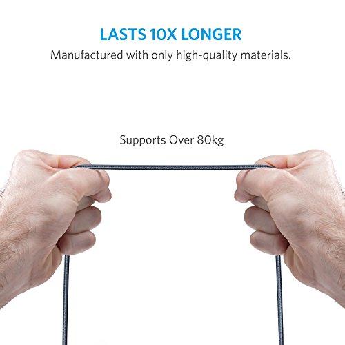 Anker Powerline+ 90 cm / 0.9 m Micro USB Kabel, Das hochwertige, schnellere & beständigere Ladekabel für Samsung, Nexus, LG, Motorola, Android Smartphones und weitere (Grau)
