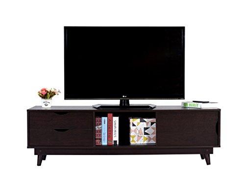 DeckUp Turrano TV Stand and Home Entertainment Unit (Dark Wenge, Matte Finish)