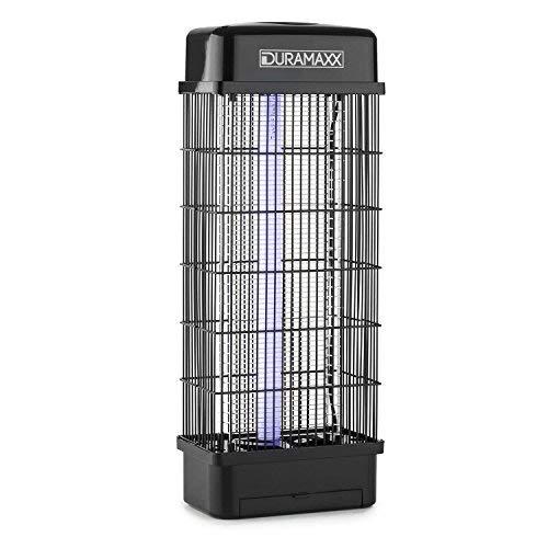 DURAMAXX Mosquito Buster 5000 - Zanzariera, Zanzariera Elettrica, Lampada UV, Vassoio di Raccolta, Senza Agenti Chimici o Veleni, IPX4 Resistente agli Spruzzi, Silenziosa, Colore Nero