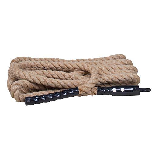 Rope Brandschutz Fitness Training Hanfseil Fitness Klettern Bergsteigen Power Kletterseil,38mm*7m