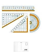 ソニック ナノピタ キッズ 定規セット SK-7885 【まとめ買い5個セット】 + 画材屋ドットコム ポストカードA