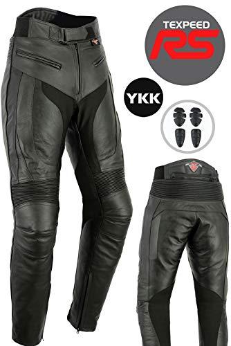 Texpeed RS - Herren Motorradhose - Leder - entfernbare Protektoren - W36 L32