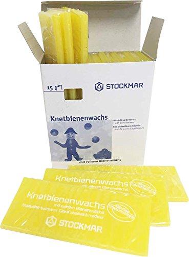 Stockmar Knetbienenwachs - Einzelfarben - 15 Tafeln 100x40x6 mm, Zitronengelb