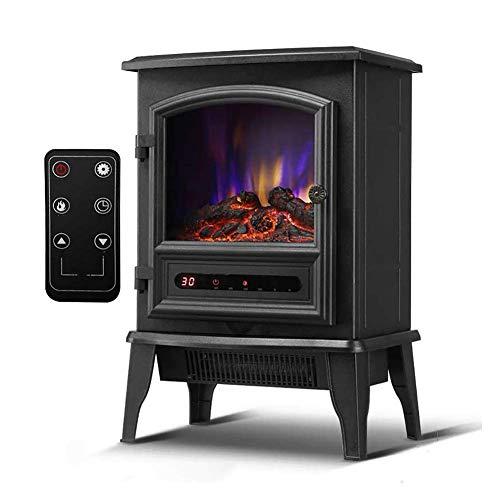 Calefactor Calentador de chimenea 2000 W inodoros en silencio sin radiación chimeneas eléctricas estufa de calefacción eléctrica de efecto realista 3D de llama libre de pie chimeneas de fuego mechanic