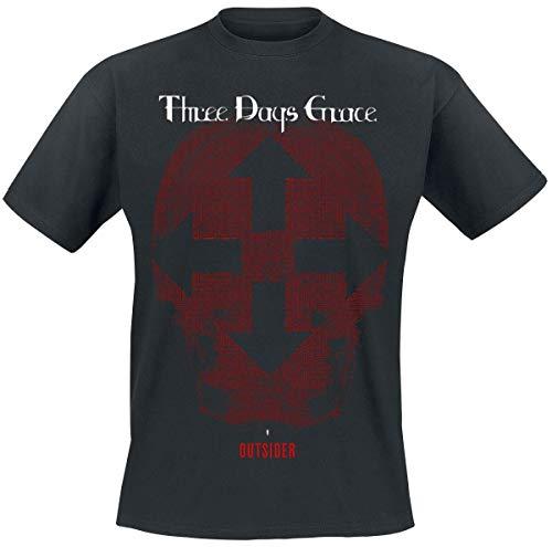 Three Days Grace Skull T-Shirt schwarz L