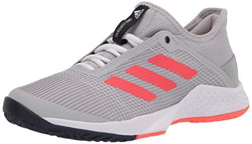 adidas mens Adizero Club Tennis Shoe, Grey/Solar Red/Ink, 10.5 US
