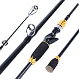 Sougayilang Spin-Casting Fishing rods,Moderate Light,24-Ton Carbon Fiber,Portable Travel Fishing Poles for Freshwater Saltwater