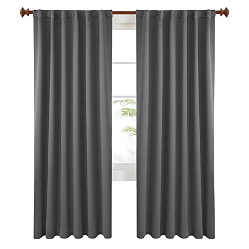 Back Tab Thermal Insulated Room Divider Curtains By Deconovo