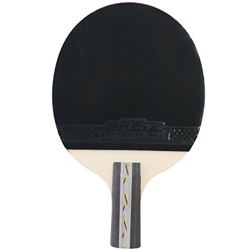 %82 OFF! Anser 3 Star Short or Long Handle Ping Pong Paddle Table Tennis Racket with Case (Short Han...