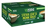 WHOLE EARTH Stevia & Monk Fruit Plant-based Sweetener, 400 Packets