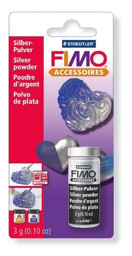 FIMO Metallic -Pulver silber 10 gr.