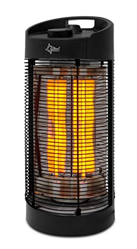 SUNTEC Carbonheizstrahler Heat Ray Carbon Tower 1200 OSC [Bis 40 m³ (~17 m²), Infrarotwärmestrahlung, Oszillation, 1200 W]