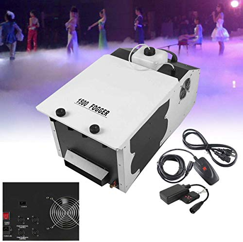 Tengchang 1500W Fog Smoke Machine Low Lying Dry Ice Stage Party Fogger w/Wireless Remote