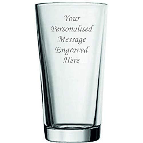 Vaso de cerveza personalizado de 1 pinta grabado en caja de regalo con forro de seda