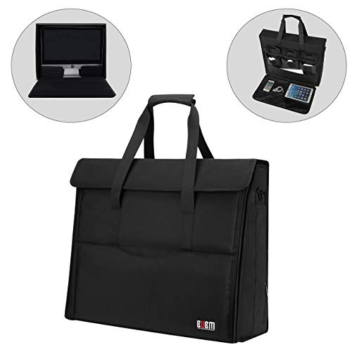 BUBM 27' Nylon Carry Tote Bag Compatible with Apple iMac Desktop Computer, Travel Storage Bag for iMac 27-inch