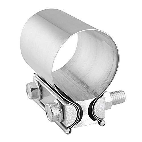 Abrazadera de Escape 63 mm Abrazadera de Tubo de Escape Acero Inoxidable Junta de Tope de Acero Inoxidable Manguera de Escape Abrazadera